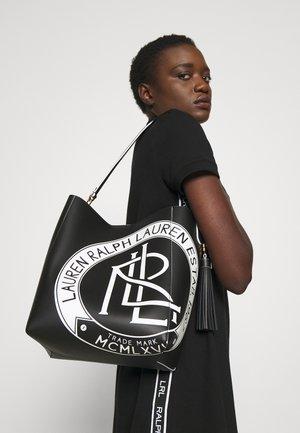 ADLEY SHOULDER MEDIUM - Handbag - black/white