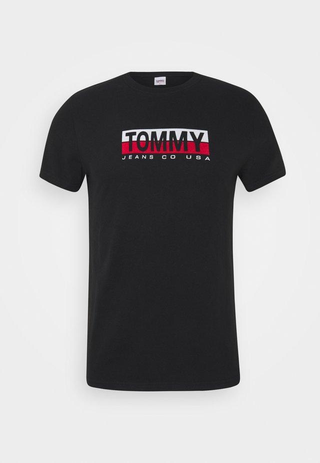 CONTRAST UNISEX - Camiseta estampada - black