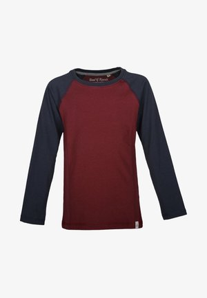 Long sleeved top - red/navy