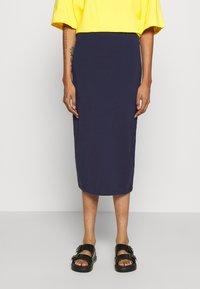 Even&Odd - 2 PACK - Pencil skirt - black/dark blue - 4
