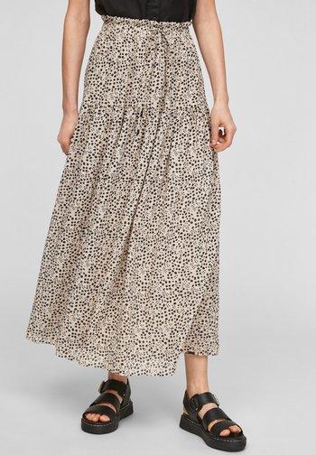 Maxi skirt - beige aop