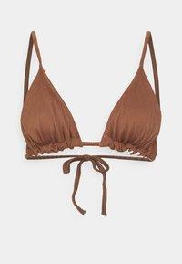 REVERSIBLE MELISSA TRIANGLE - Bikini top - brown/cream