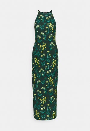 Maxi dress - dark green/multi-coloured