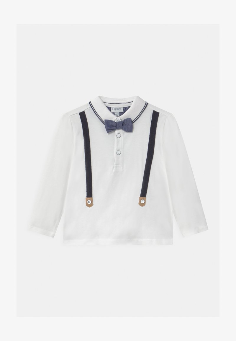 OVS - SUSPENDER BOW - Long sleeved top - snow white