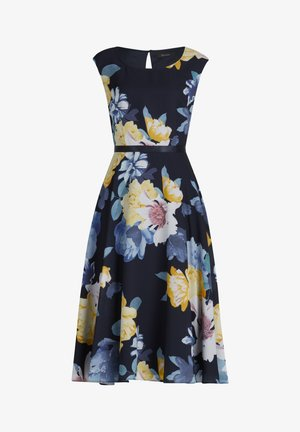 MIT PRINT - Day dress - dark blue/yellow