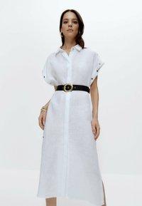 Uterqüe - Shirt dress - white - 0