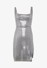 Club L London - SEQUIN NECK MINI DRESS - Cocktail dress / Party dress - grey - 5