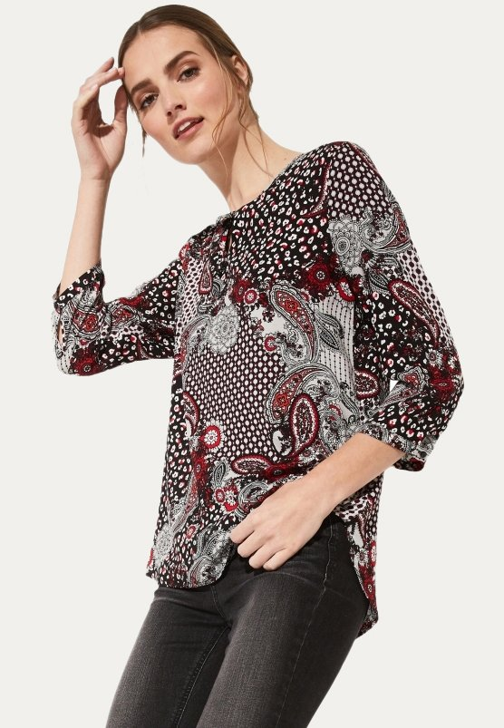 comma casual identity - 3/4 ARM - Blouse - red