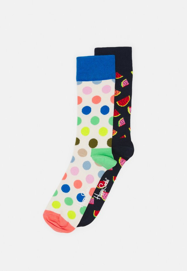 2 PACK BIG DOT AND WATERMELON SOCK UNISEX - Chaussettes - multi