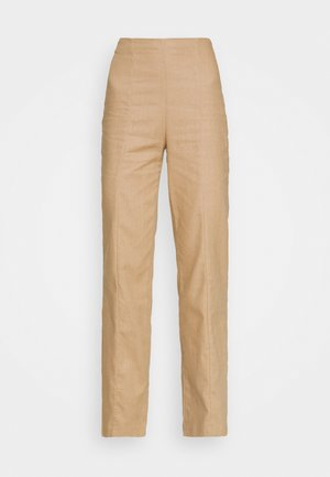 SEAM FRONT WIDE LEG TROUSER - Kalhoty - brown