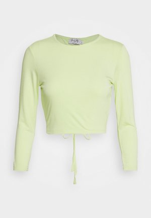 OPEN BACK DETAIL - Top sdlouhým rukávem - pastel green