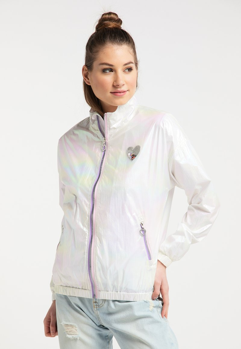 myMo - HOLOGRAPHIC  - Summer jacket - weiss holografisch