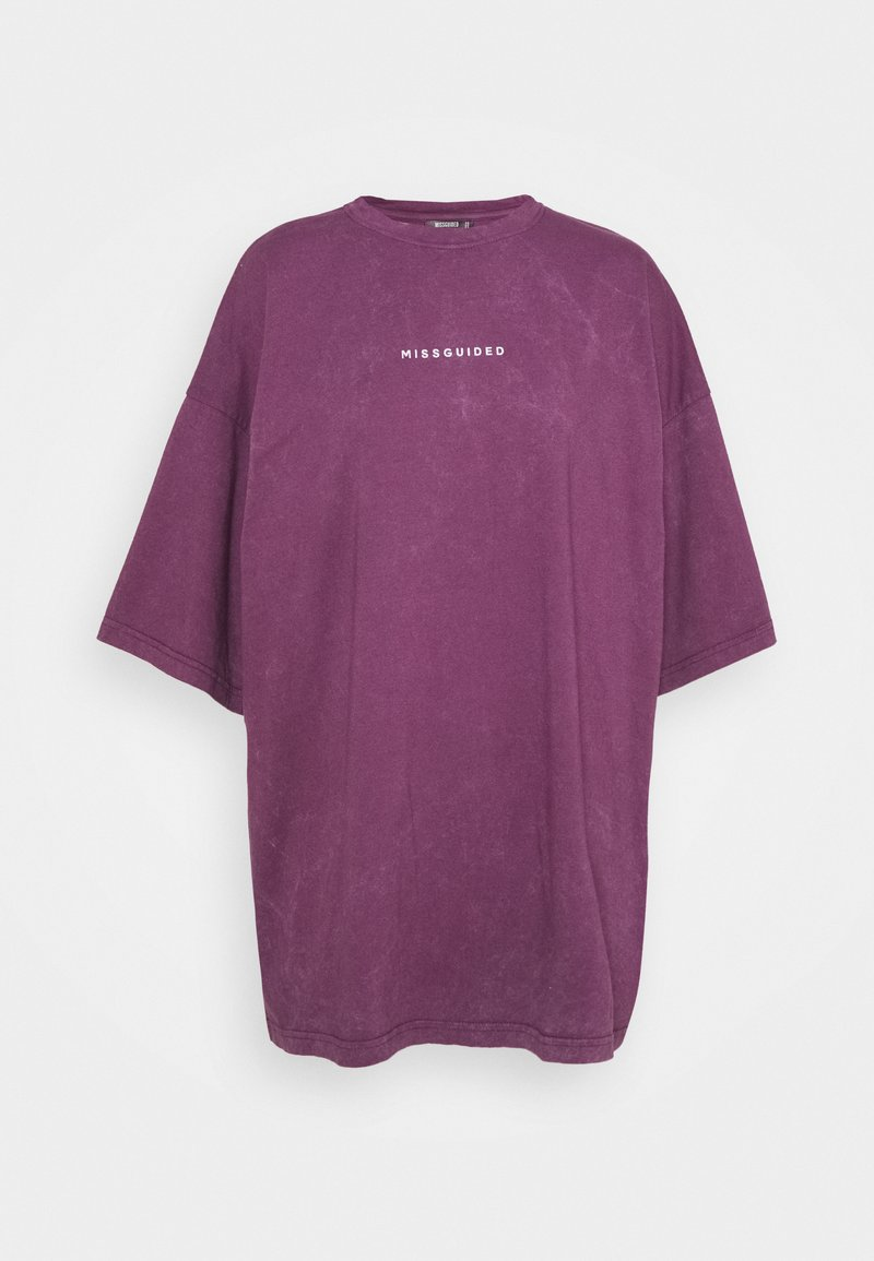 Missguided Tall - WASHED DROPPED SHOULDER TEE - Blůza - wine