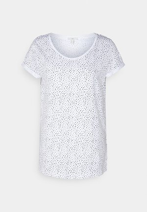 SLUB ROUNDNECK - Print T-shirt - white