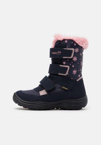 CRYSTAL - Vinterstøvler - blau/rosa
