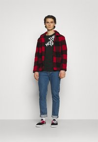 The North Face - SHOULDER LOGO TEE - Long sleeved top - black - 1