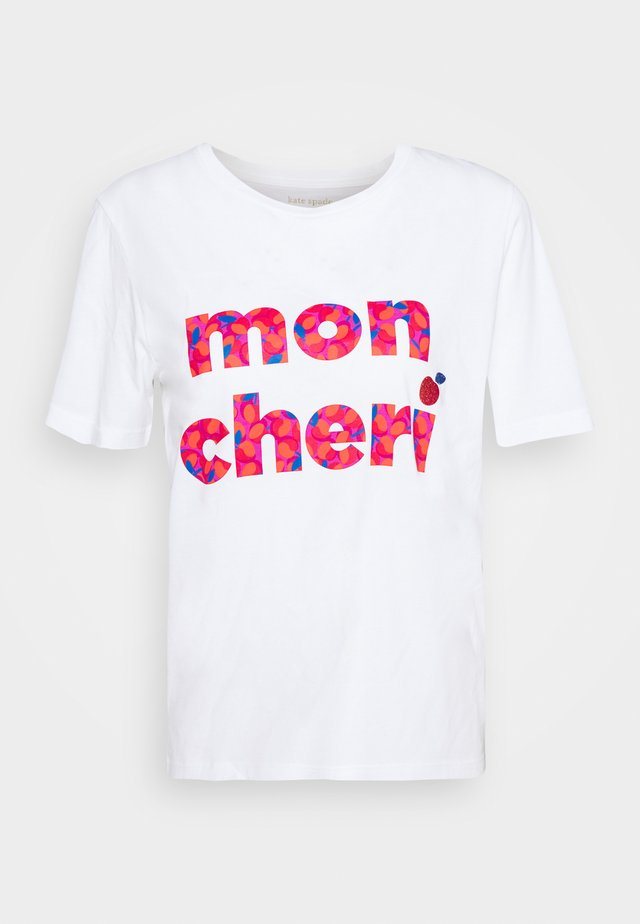 MON CHERI TEE - Triko spotiskem - fresh white