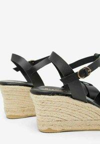 Bianco - BIADENA - Wedge sandals - black - 5