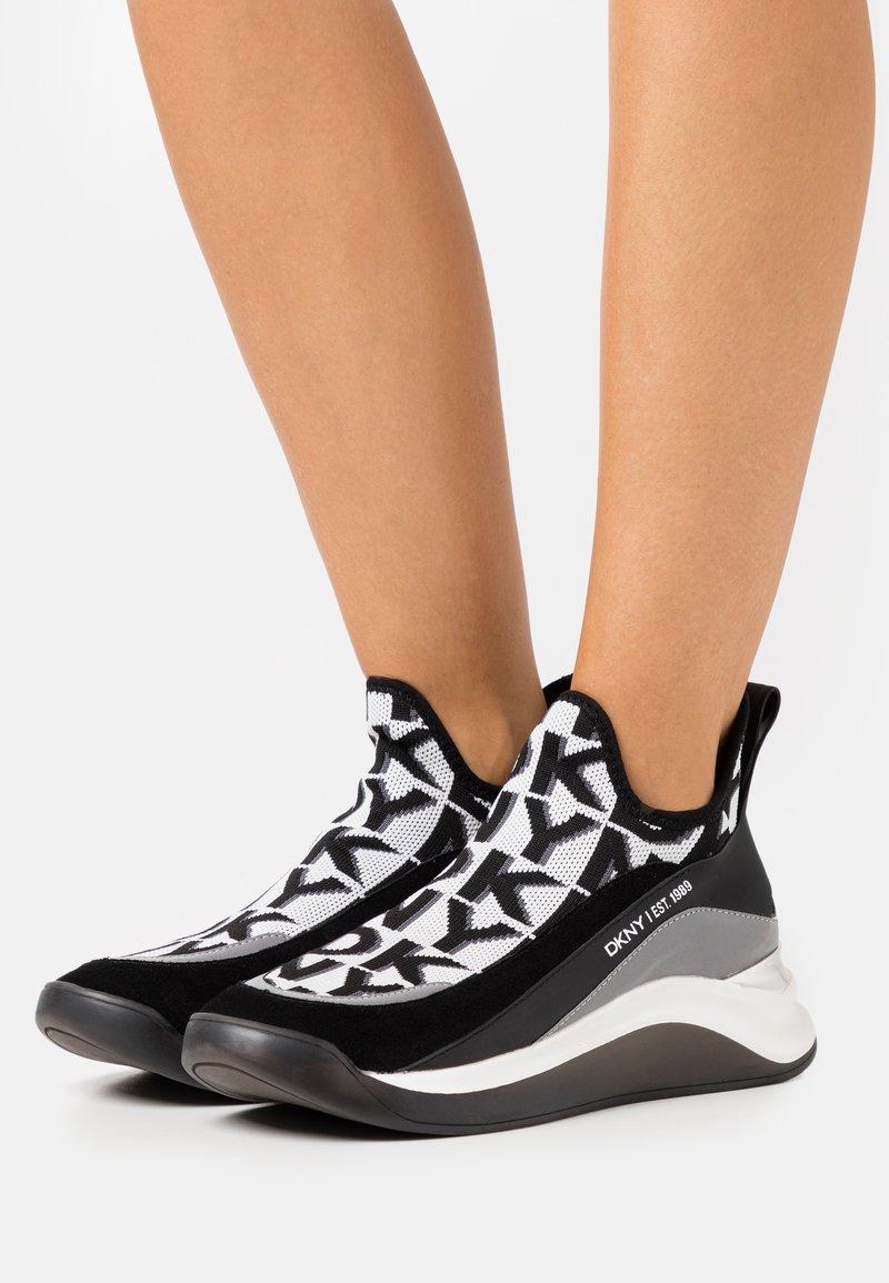 DKNY - FELISEE - Slip-ons - white/black