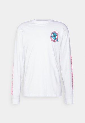 UNISEX SW SCREAM - Long sleeved top - white