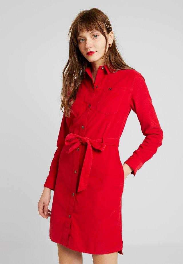 DRESS - Shirt dress - warp red