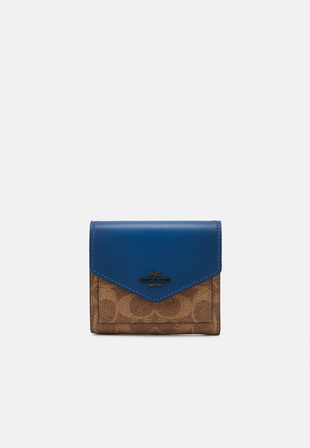 COLORBLOCK SIGNATURE SMALL WALLET - Portafoglio - tan/dark denim