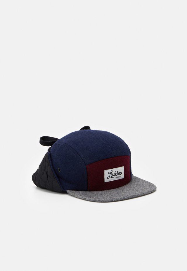 BLOCK PANEL EARS - Cap - navy/grey/burgundy