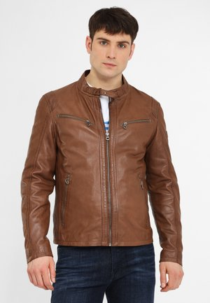 COBY - Leather jacket - cognac