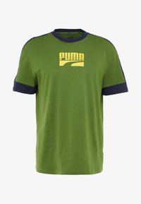 Puma - REBEL BLOCK TEE - T-Shirt print - garden green - 4