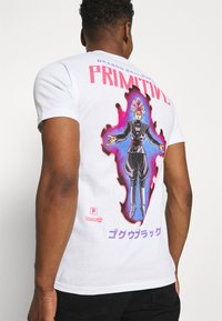 Primitive - GOKU BLACK ROSE TEE - T-shirt med print - white - 4
