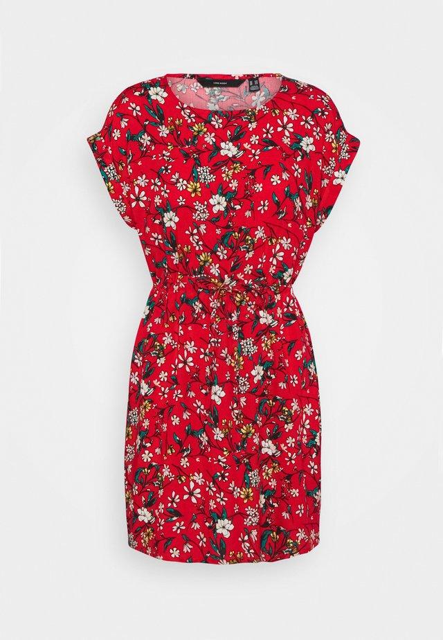 VMSIMPLY EASY TIE SHORT DRESS - Robe d'été - goji berry