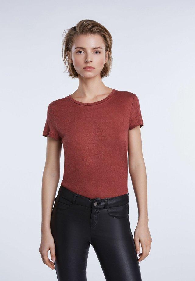 Print T-shirt - terracotta