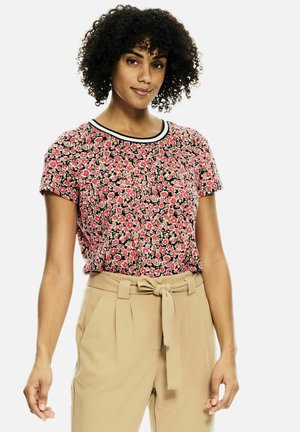Print T-shirt - fiery pink