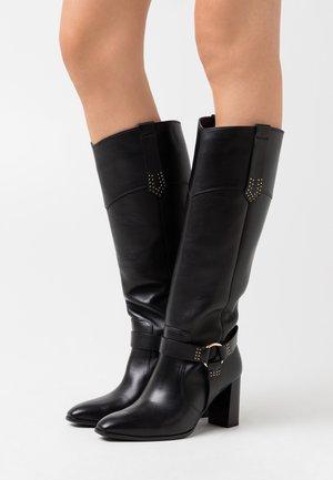 High heeled boots - schwarz