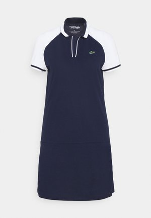 GOLF DRESS - Jurken - navy blue/white