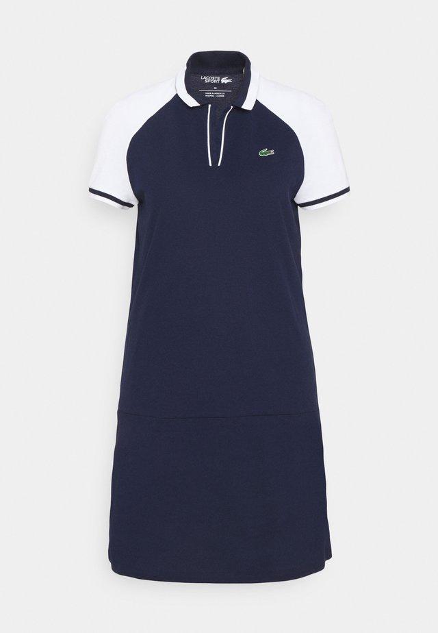 GOLF DRESS - Sports dress - navy blue/white