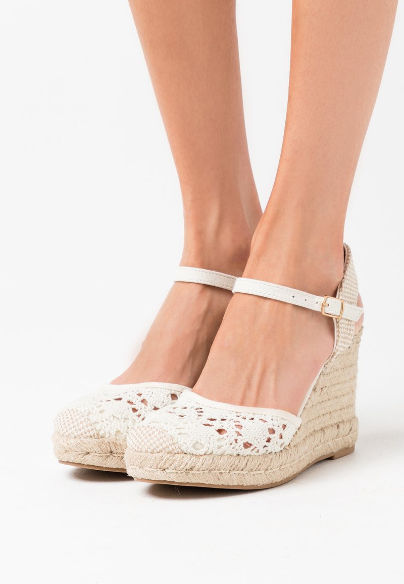 New Look - TROPICAL - High heeled sandals - offwhite