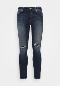 ONLY Carmakoma - CARWILLY - Jeans Skinny Fit - dark blue denim - 4