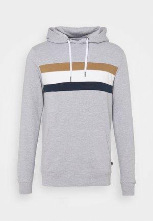CHEST PANEL OVERHEAD HOOD - Sweatshirt - grey