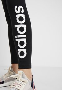 adidas Performance - LIN - Leggings - black/white - 4
