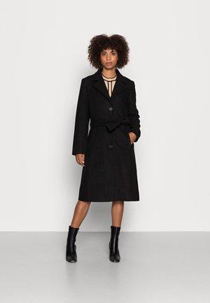 CILJA LAPEL COAT - Klasický kabát - black