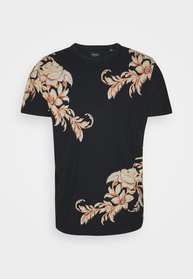 JPRBLULEO TEE - Print T-shirt - black