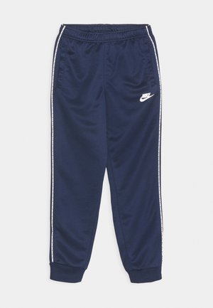 REPEAT - Pantalones deportivos - midnight navy/white