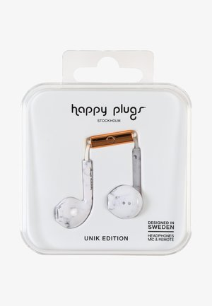 UNIK EARBUD PLUS - Headphones - white marble