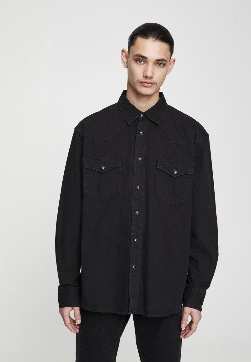 PULL&BEAR - Košile - black denim