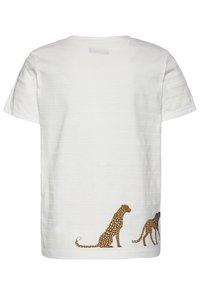 IKKS - T-shirt imprimé - blanc cassé - 1