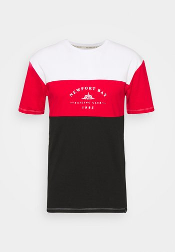 BLOCK - T-shirts med print - black/red/white