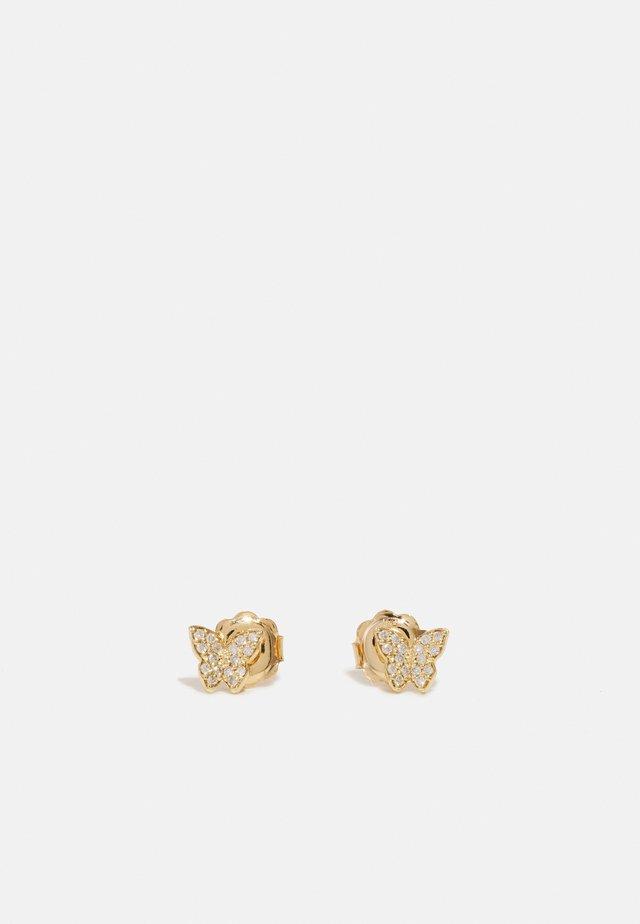 HANDMADE BUTTERFLY EARRINGS - Pendientes - yellow
