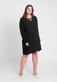 Zizzi - XGRENADINE DRESS - Robe d'été - black - 0