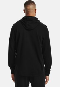 Under Armour - RIVAL TERRY BIG LOGO HD-WHT - Hoodie - black - 2